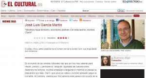 Entrevista a José Luis García Martín en El Cultural